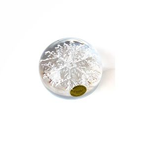 Other - Vintage Lead Crystal Snowflake Paperweight France